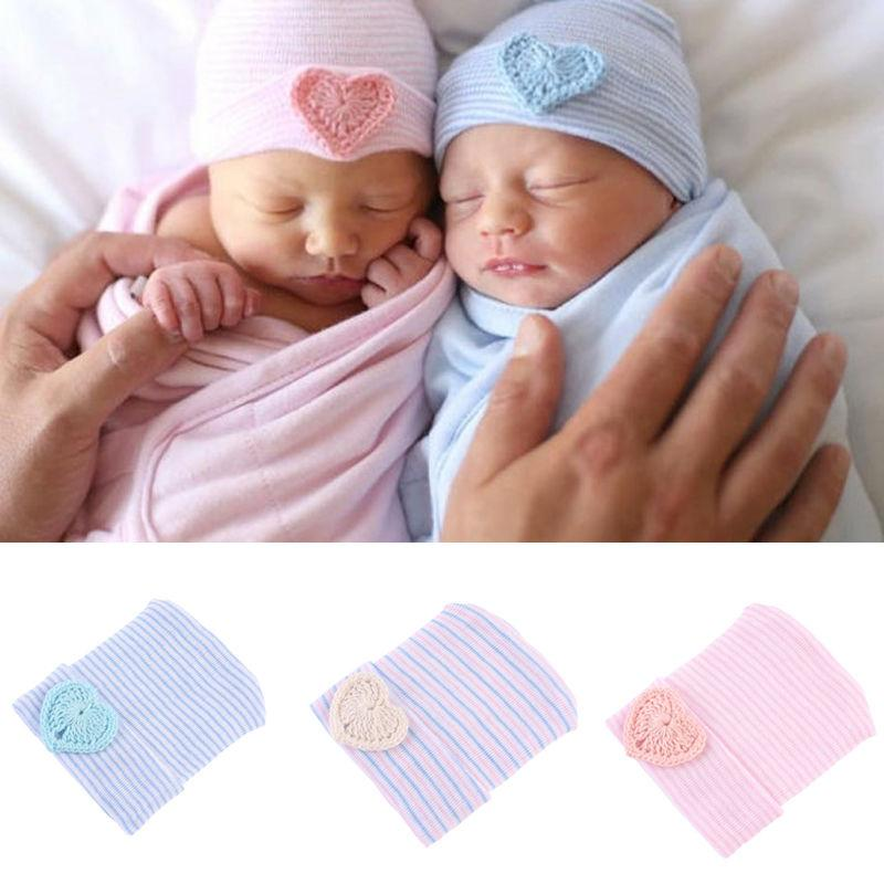 8813309ec10 2019 Cute Newborn Toddler Baby Infant Girl Toddler Soft Comfy Bowknot  Striped Hospital Cap Warm Beanie Hat From Dejavui