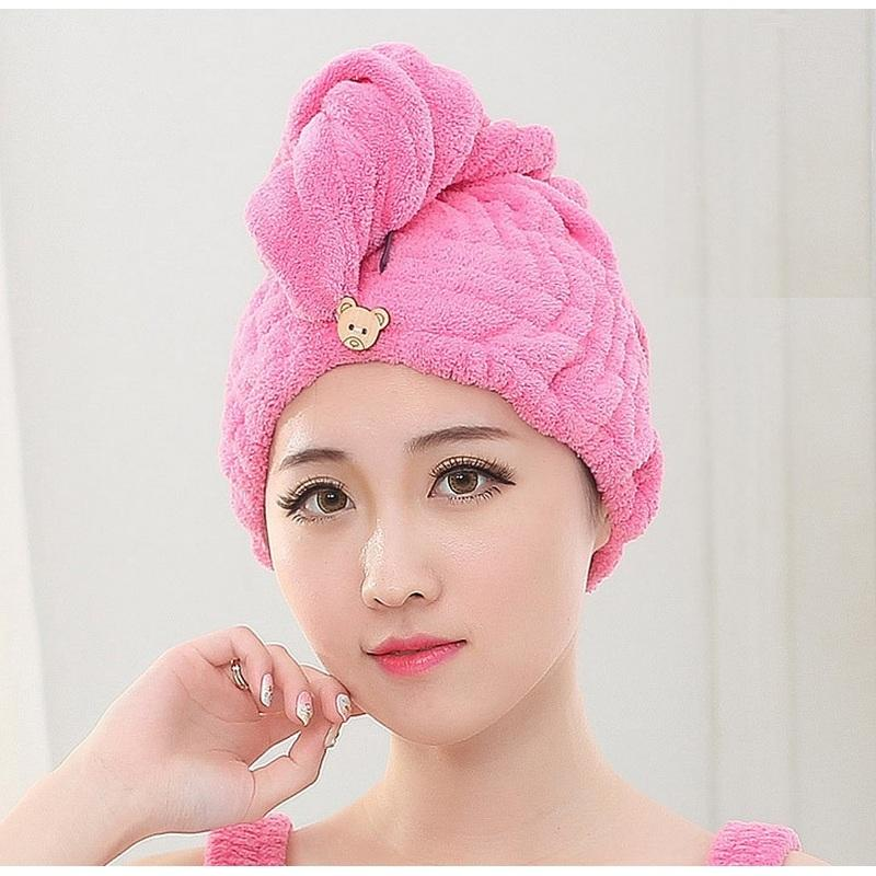 Wholesale Japan Women Super Absorbent Bathroom Hair Towel Adult Girl Bow  Magic Dry Hair Cap Thickening Quick Dry Salon Hat Bath Shower Cap Beach  Towel Tea ... 98a03f5c288d