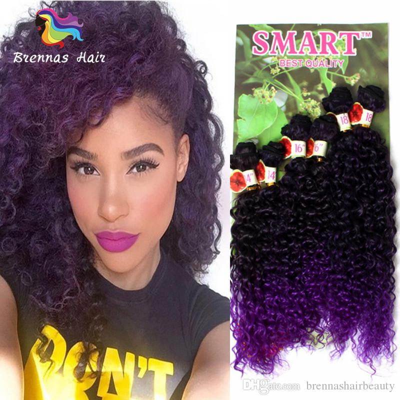 2018 High Quality Smart Synthetic Hair Weaves Full Head Sew In Hair