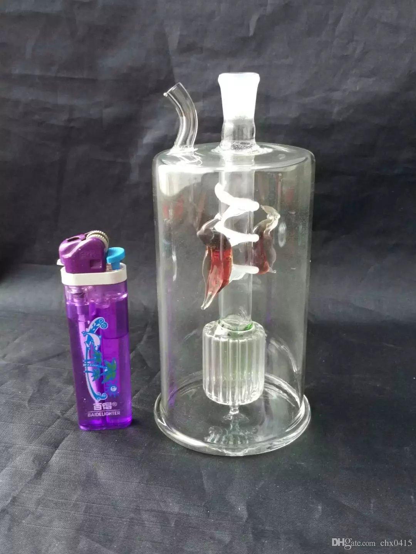 Petrol Kuyuları Serbest Sigara Çift diskli ipek kuş nargile Toptan Cam bonglar Yağ Brülör Cam Su Boruları