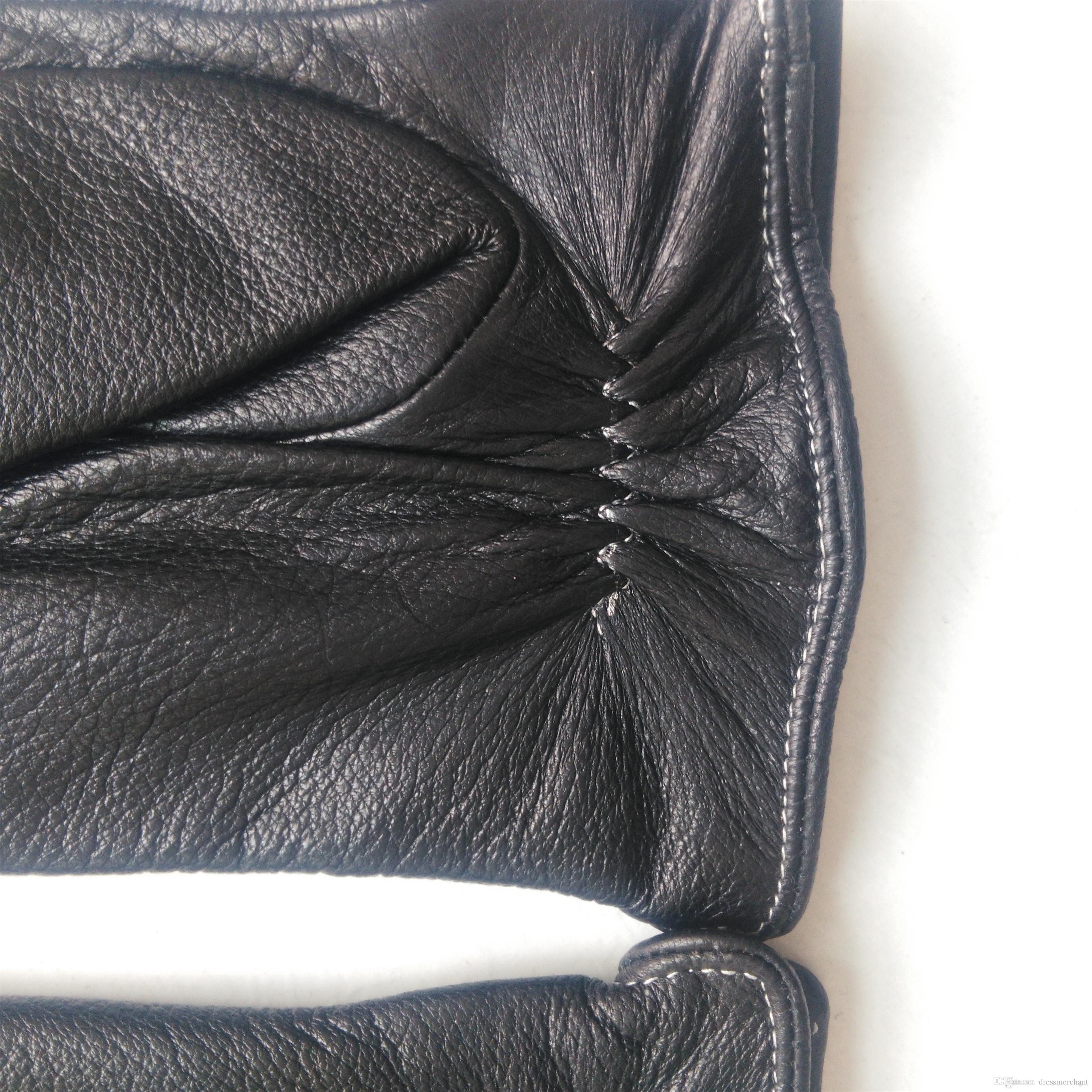Herren Leder Kleidung Handschuhe Herbst und Winter warme Schaffell Handschuhe Mode Sport Handschuhe