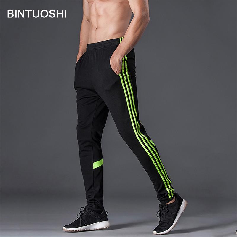 Compre BINTUOSHI Running Pants Men Pantalones Deportivos Con Bolsillo  Soccer Training Pantalones Transpirables Pantalones Deportivos Fitness Para  Hombre ... 165b79ce8e24c