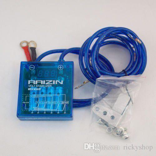 Universal PIVOT MEGA RAIZIN Ahorro de combustible para automóvil Estabilizador de voltaje Regulador LedBlue
