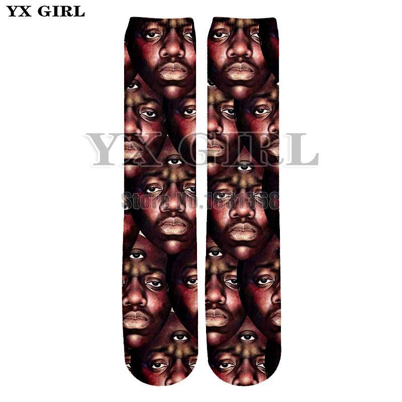 800988388e8 2018 2Pac Ice Cube  Einstein Trump Funny Head Sculpture Harajuku Funny  Ankle Sock Men s Women Crew 3D Socks Print Thick Socks
