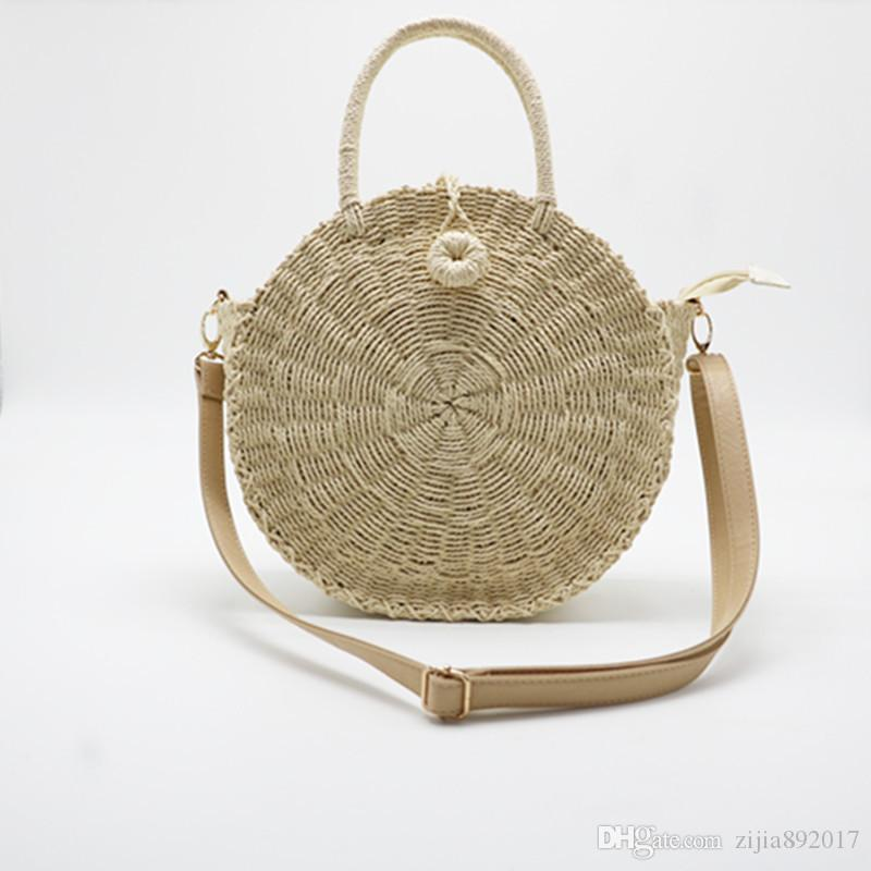 b8b5682508 2018 Bali Circle Straw Bags for Women Handmade Round Beach Bag ...