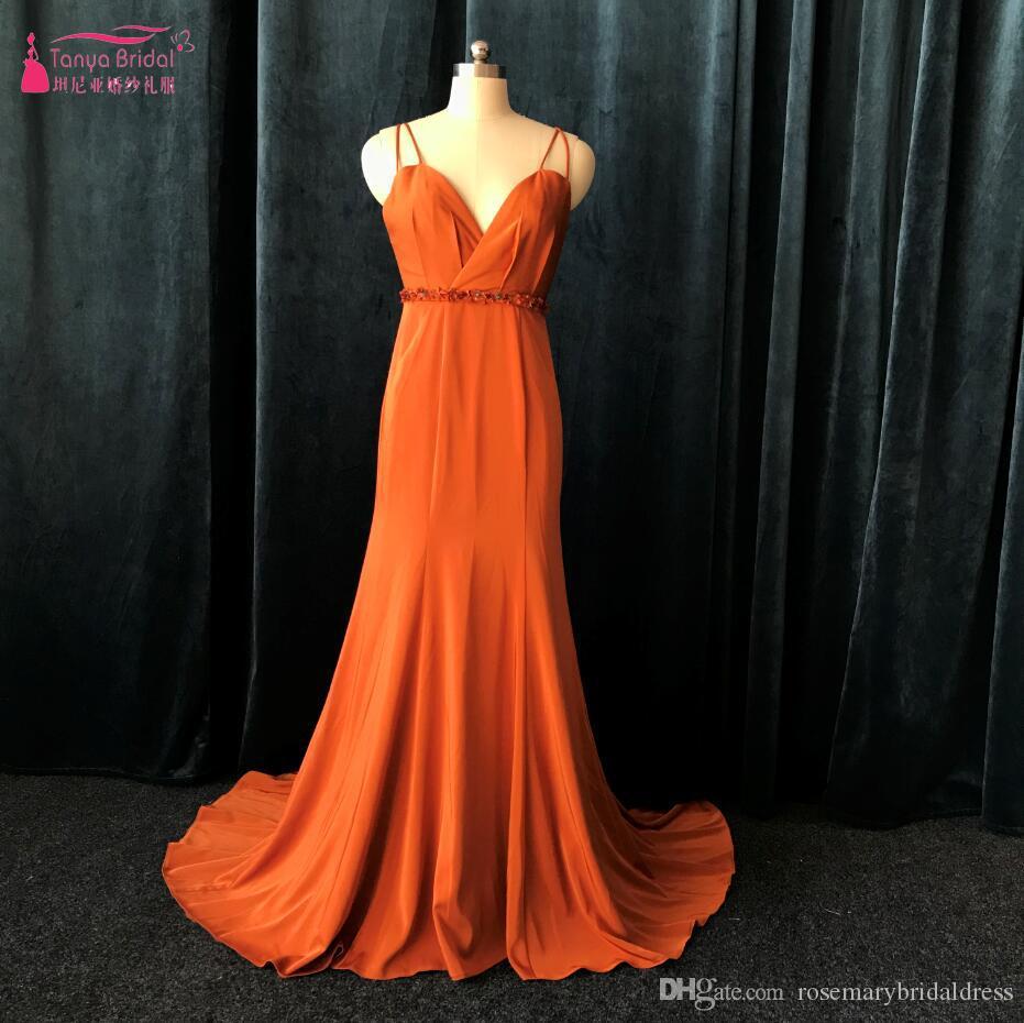 ff36d538306a Acquista New Fashion Caramel Color Prom Dresses Lungo Mermaid Semplice Sexy  Vestito Da Sera Da Sera Night Wear Vendita Calda Abiti Da Cerimonia ZP066 A  ...