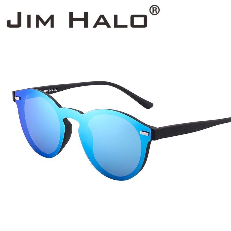 57a28477797 One Piece Polarized Rimless Mirror Reflective Circle Lens Club Round  Sunglasses Flash Retro Vintage Sun Glasses Fashion Oculos De Sol Gafas Best  Sunglasses ...