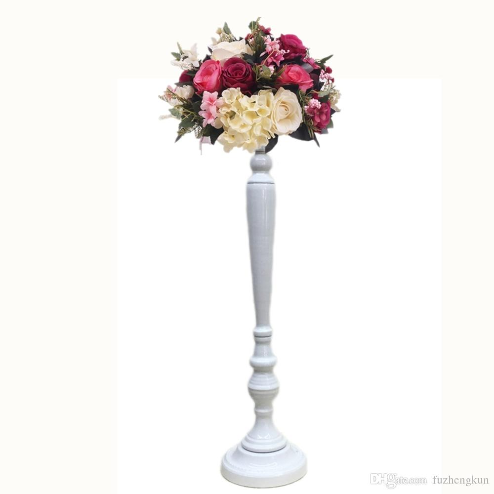 Goldenwhite Flower Vase Candle Holders Wedding Table Road Lead