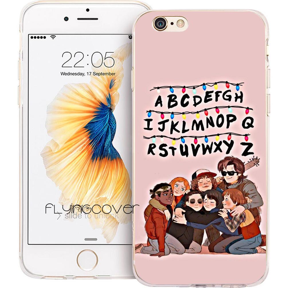 los angeles 202c2 10d0a Capa Stranger Things Season 2 Cases for iPhone 10 X 7 8 Plus 5S 5 SE 6 6S  Plus 5C 4S 4 iPod Touch 6 5 Clear Soft TPU Silicone Cover.