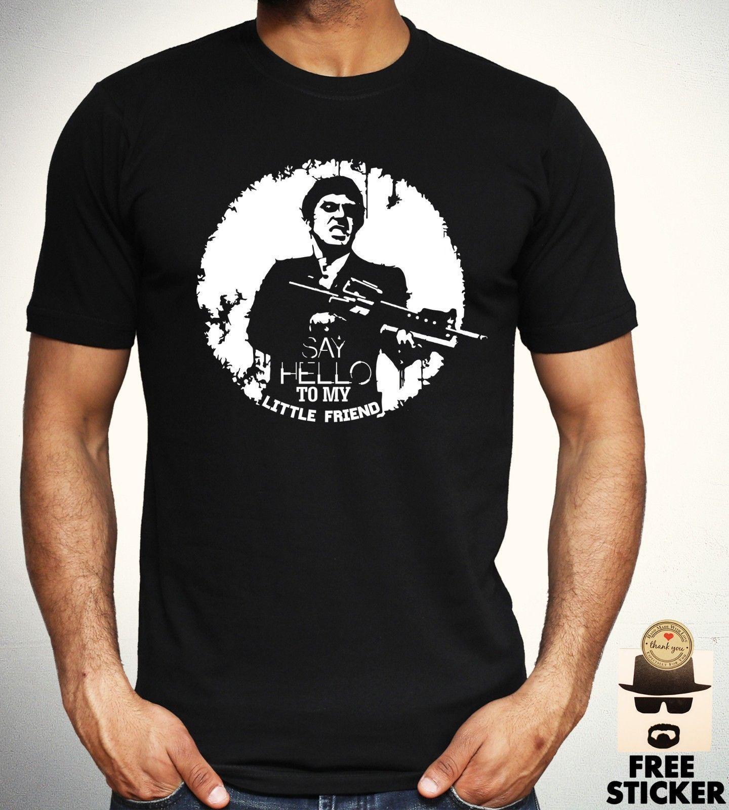 0e3772eb8778b Compre Camisa De Scarface T Olá A Meu Amigo Pequeno Filme Retro Tee Homens  Adultos Novos S XXL De Yg06tshirt