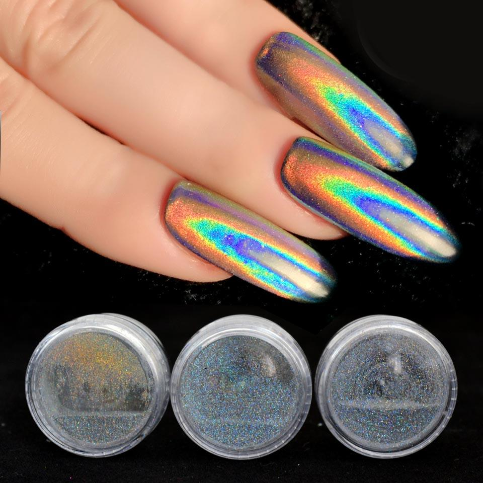 Unicorn Powder Holographic Glitter Laser Nail Holo Rainbow Chrome Mirror Dust Art Decor 02g Sf2014 Gel For Nails Designs With
