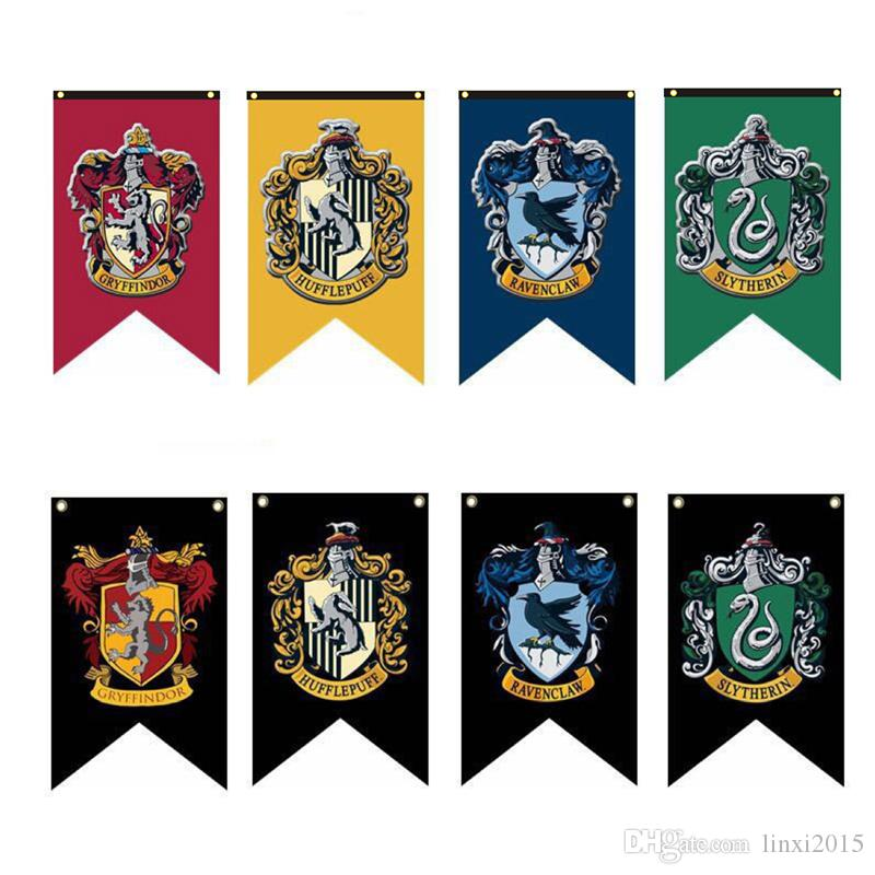 Halloween Decoration Harry Potter Banners Flag Gryffindor Flag Hogwarts  College party Flag 75x125cm house Banner Flags fast shipping