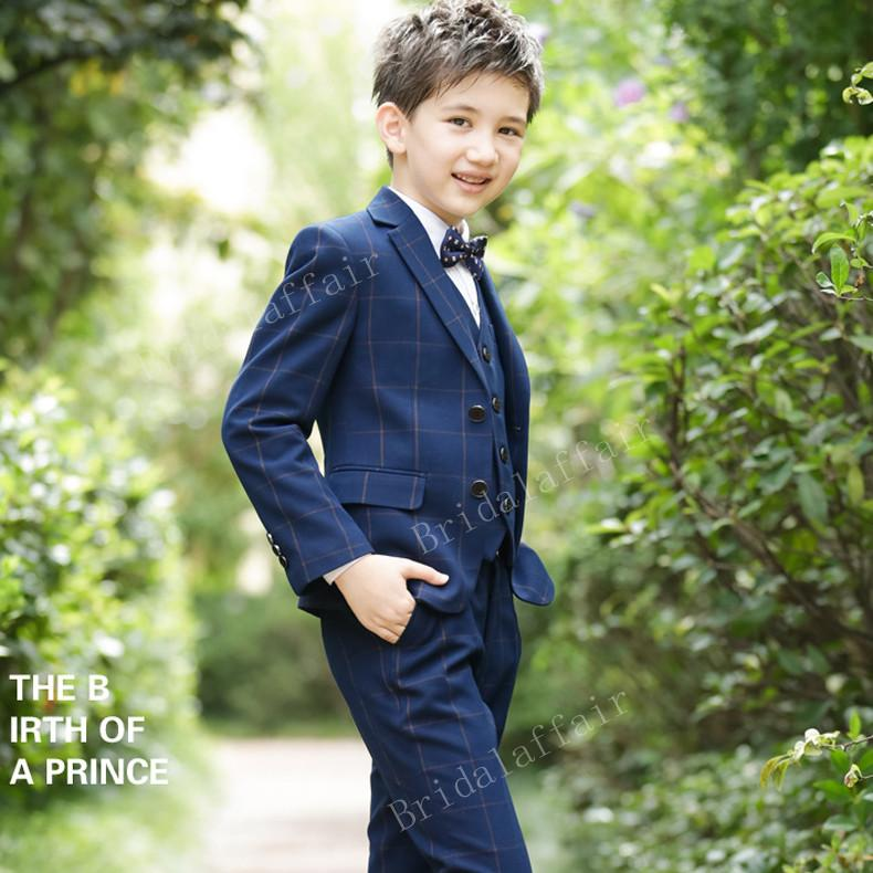 Compre Trajes De Boda Maravillosos Para Niño Traje De Vestir Formal Traje  De Boda Para Niños Esmoquin Para Niños Esposo Azul Marino 3 Piezas Chaqueta  + ... d5dc6d819fe2