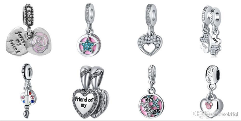 eb5d314ab 2019 Wholesale Mixed Loose Silver Beads Charm EnamelAnna Belle Cinderella  Pendant Beads Fit Women Pandora Bracelet Bangle Diy Jewelry KKA1171 From  Koville, ...