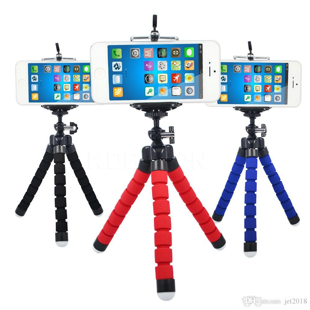 MOQ:2pcs Mini Flexible Camera Phone Holder Flexible Octopus Tripod Bracket Stand Holder Mount Monopod Styling Accessories