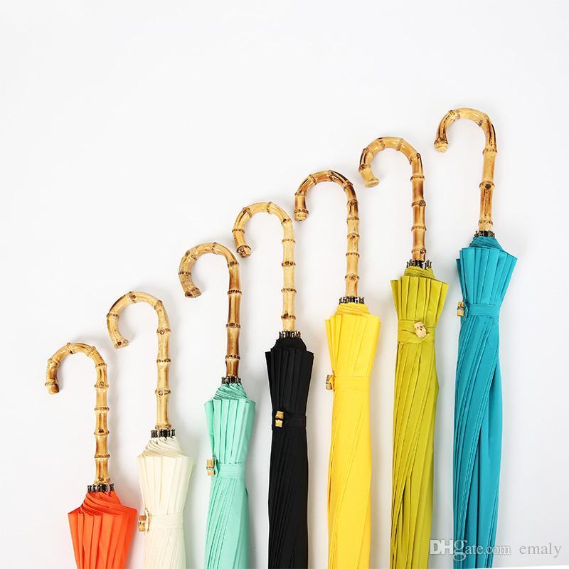 British retro handmade bamboo hook small fresh umbrella umbrella 16 wind wind umbrella sun drying