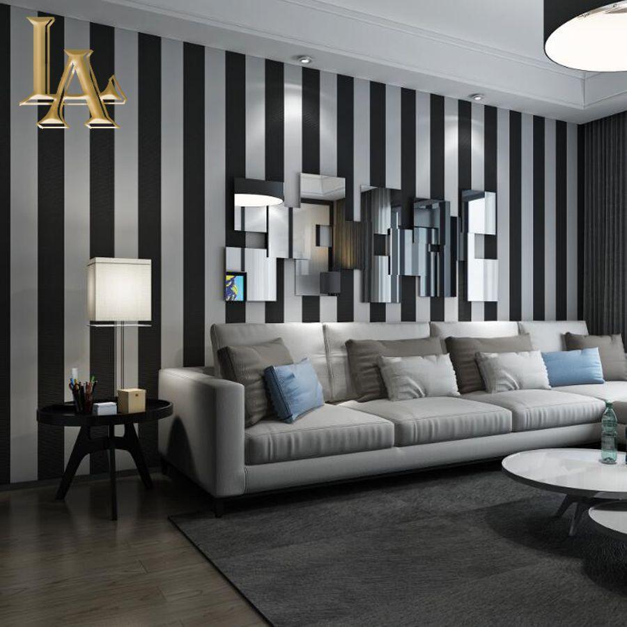 Cozy Fashion 3D Modern Striped Wallpaper For Walls ...