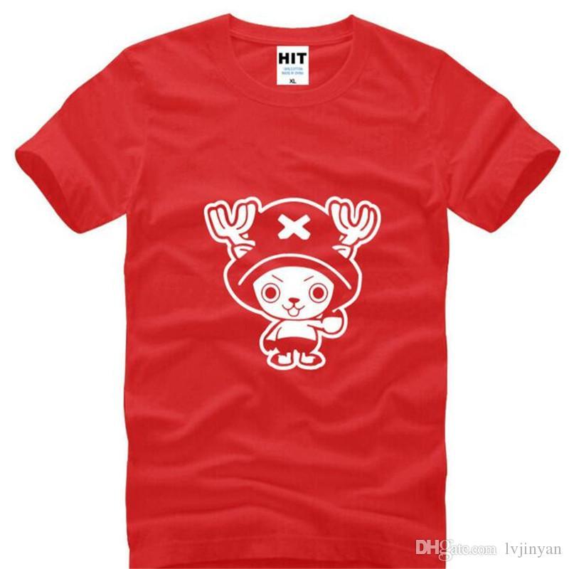 Ein Stück Chopper Printed T Shirts Männer Sommer Kurzarm Oansatz Baumwolle herren T-shirt Anime Charakter T-Shirt T-shirt Homme