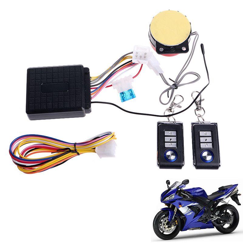 Universal Motorrad Diebstahlwarnanlage Sicherheitssystem Mit Fernbedienung Motor Startsperre Motorrad Roller Schutz