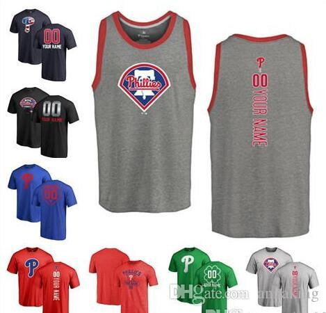 2019 2018 Custom Men S PA Phillies Baseball T Shirt Personalized Name And  Number Women Youth Banner Wave Baseball Tri Blend Tank Top Jersey From  Annaking 517a0c01500