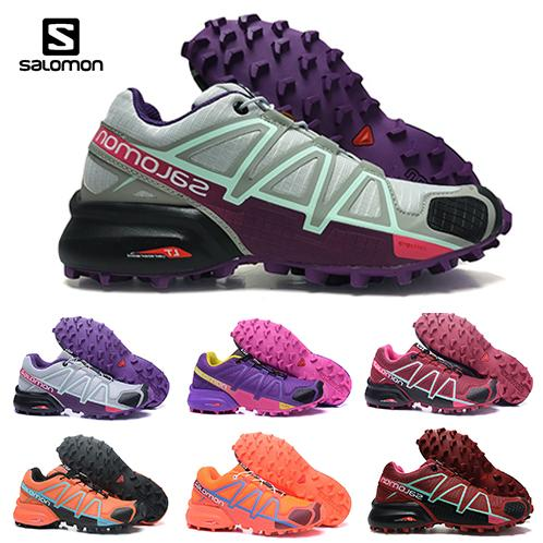 2018 Salomon Speed cross 4 CS IV Running shoes Black Silver red Pink blue Women Outdoor SpeedCross 4s Hiking Womens sports sneakers 36 42