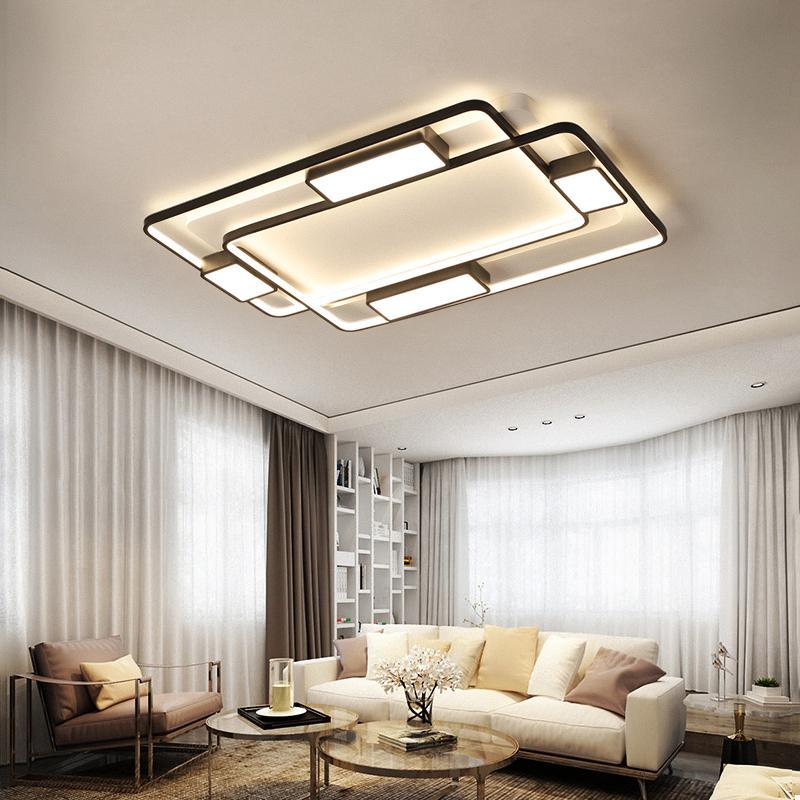 2019 Modern Simple Led Ceiling Lights For Living Room Bedroom White