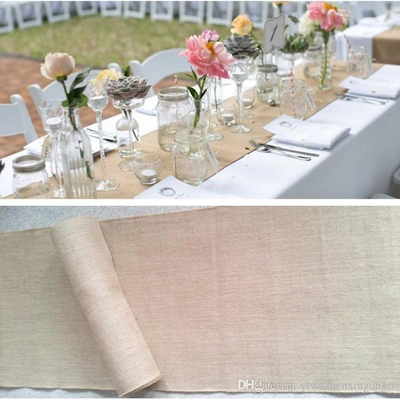 Corredor de la tabla del cordón de lino Cubierta de la silla Decoración del banquete de boda de Navidad Hotel grandes suministros de banquete Decoración del jardín del hogar