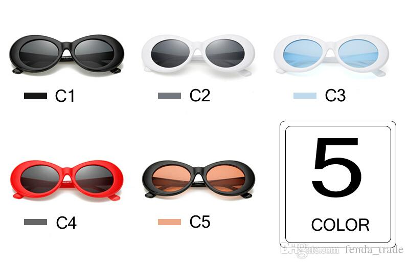 Старинные овальные солнцезащитные очки Женщины Марка дизайнер ретро солнцезащитные очки человек мода женский мужской очки солнцезащитное стекло Курт Кобейн очки