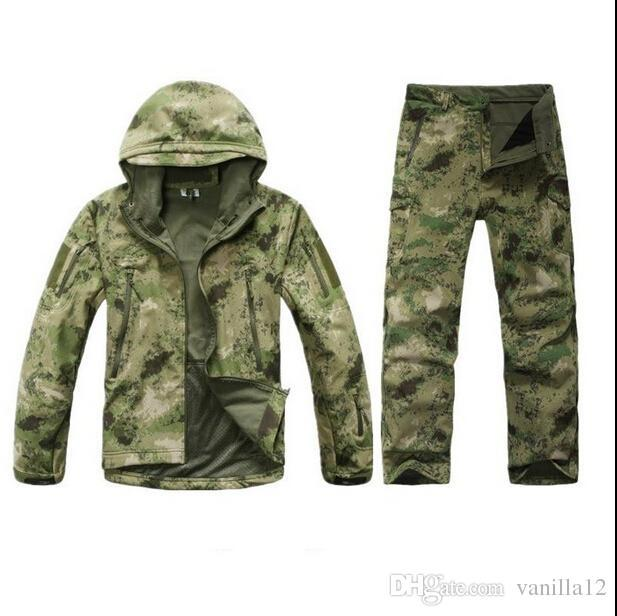 All'ingrosso-TAD Stalker Shark Skin Camouflage Caccia Giacche Pesca impermeabile SoftShell Outdoor Jacket Set Sport Army Clothes S6
