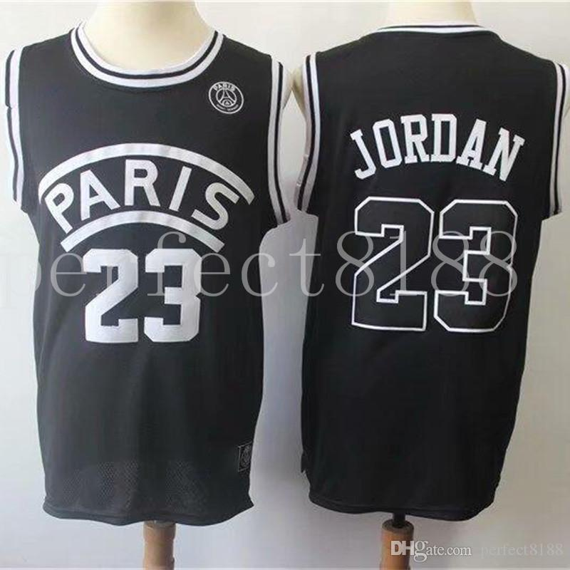 e0eab4b84900a 2019 2018 Black Basketball AJ PSG Jerseys 23 Michael MJ NEYMA 10 Jr Jersey  7 MBAPPE Paris Maillot De Basket Black Shirt 001 From Perfect8188
