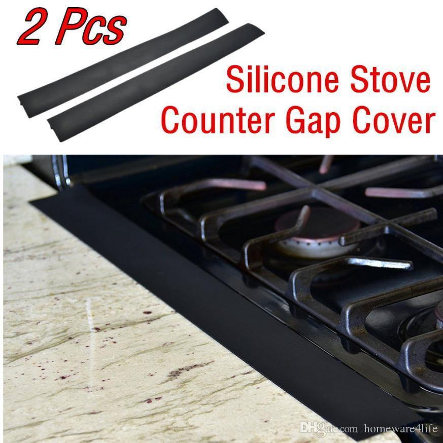 Kitchen Oil Gas Stove Counter Gap Cover Easy To Clean Heat Resistant Slit  Filling Seals Spilling Between Gas Stove Gap Filler Jj12 Decor Kitchen  Decor Your ...