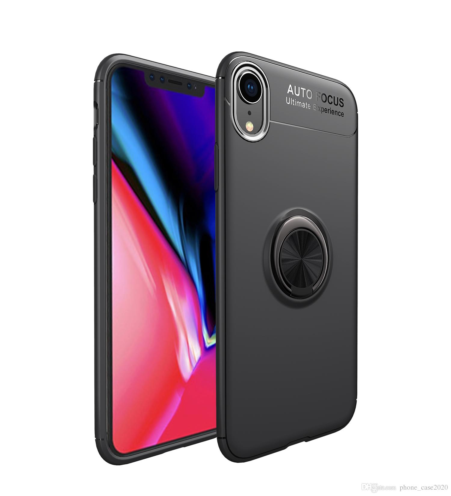 78ac55c9e6e5d4 Ultra Slim Finger Ring Kickstand Soft Case For IPhone XR XS Max XS X 8 8  Plus 7 6 6S Plus 5 SE Cute Cell Phone Cases Cell Phone Cases Wholesale From  ...