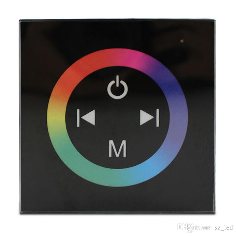 86 Type Wall Mounted LED RGB Controller Touch Panel Controller DC12V-24V 4A*4CH for 5050 3528 LED Strip Light