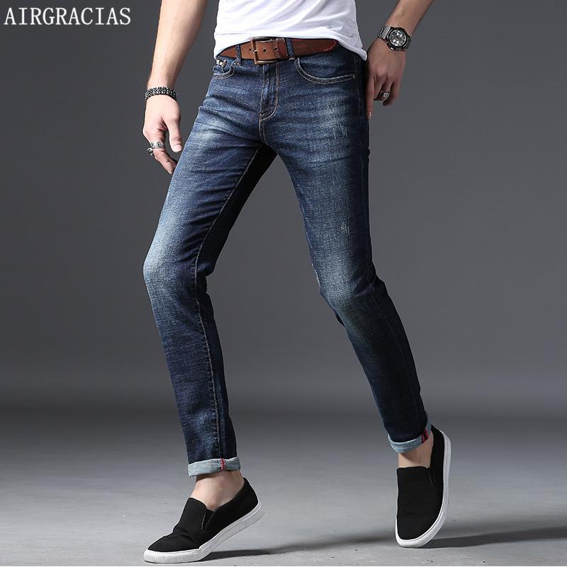 2a7b6f1fa7d AIRGRACIAS 2018 Brand Men Jeans Pants Dark Color Wash Jeans Casual ...