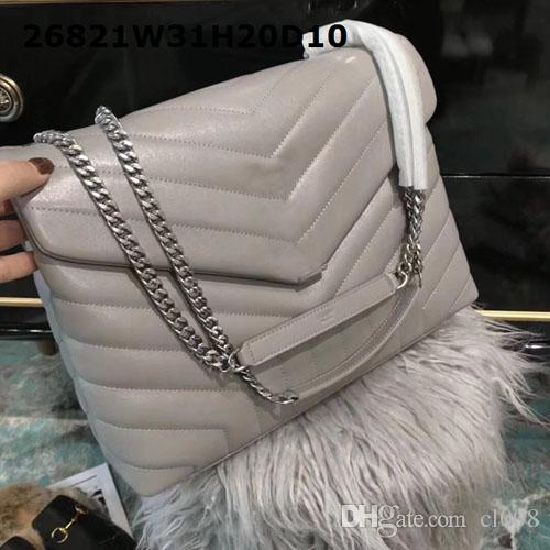 Women Luxury shoulder bags smooth sheepskin top end real leather excellent hardware soft shell bags 31cm wide cost prices sale
