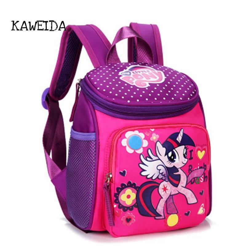 40902ffeb853d Großhandel Mein Kleines Pony Schultaschen Für Kleinkind Kinder Nette Kinder  Mini Hallo Kitty Schultasche Red Mickey Superman Rucksack Für Jungen  Mädchen ...