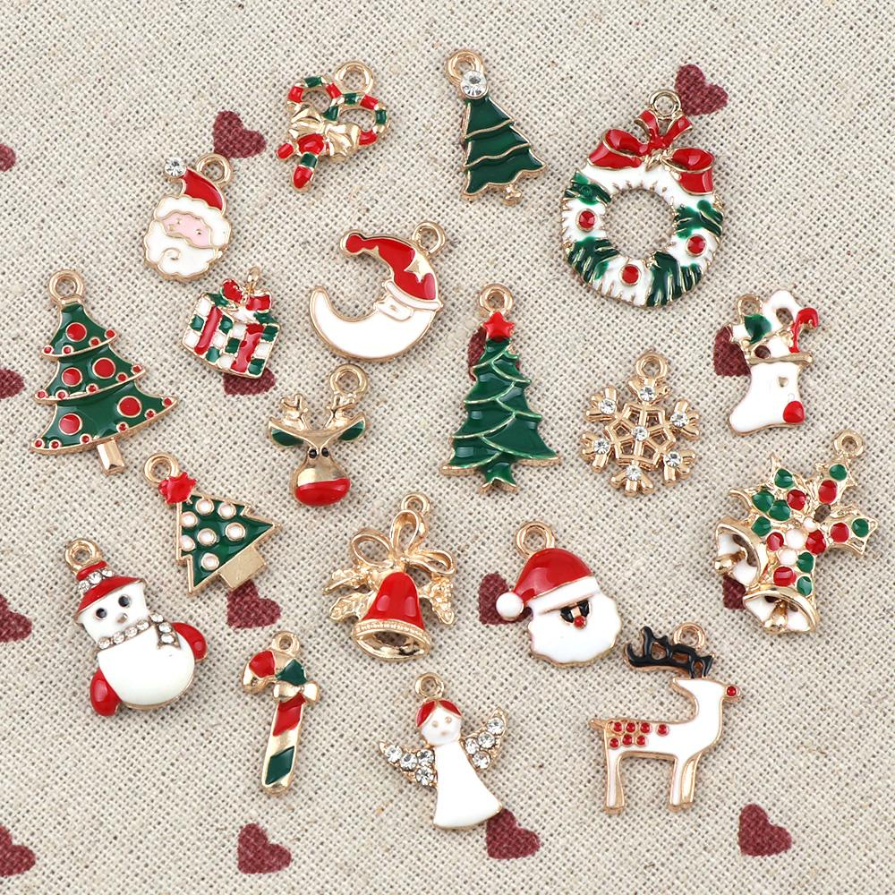 newyear fashion metal alloy christmas charm decor set xmas pendant drop ornaments hanging christmas decoration birthday theme decorations birthday theme