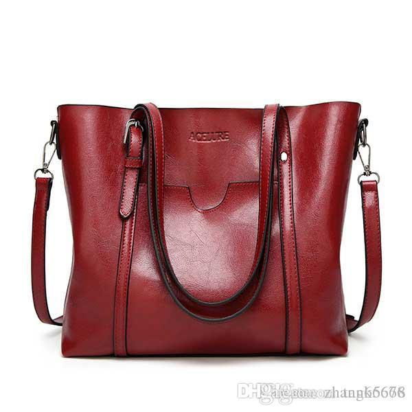 95cd55520f7f ACELURE Women Bag Oil Wax Women S Leather Handbags Luxury Lady Hand Bags  With Purse Pocket Women Messenger Bag Big Tote Sac Bols Designer Bags Hobo  Bags ...