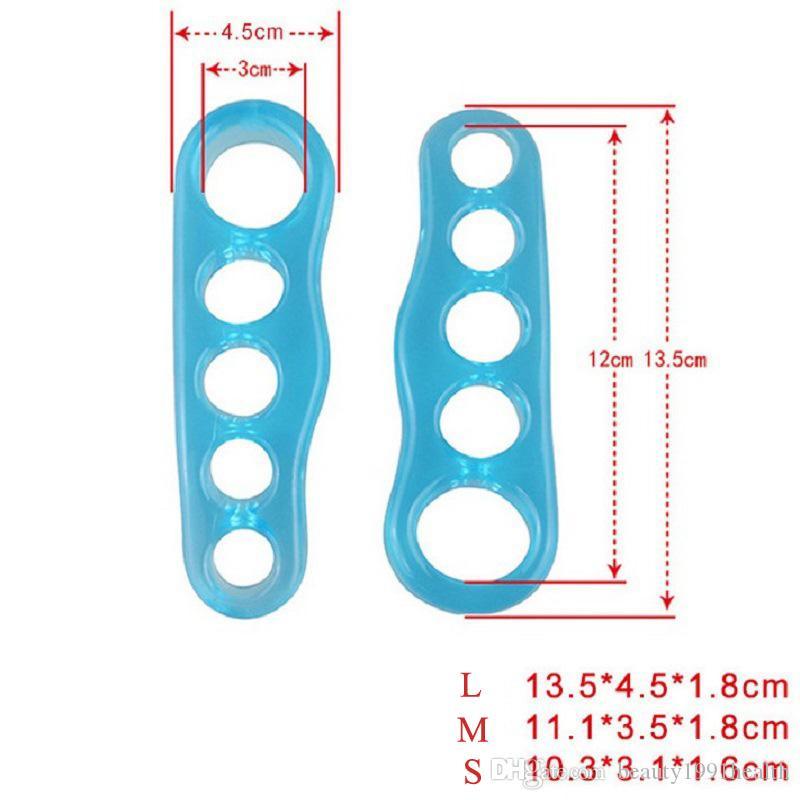 Nuevo Silicona Pies Pulgar Coronador de Corpiño 1 Par Separadores de Dedos Enderezadora Herramienta de Cuidado de Pies Hallux Valgus Masajeador Cubierta de Dedo