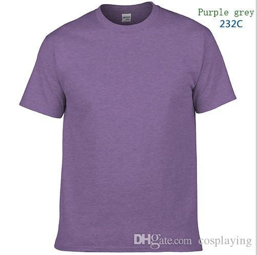 NOUVELLE publicité unisexe T-shirt en vrac col rond couleur unie coton peigné T-shirt de haute qualité prix bas bricolage impression