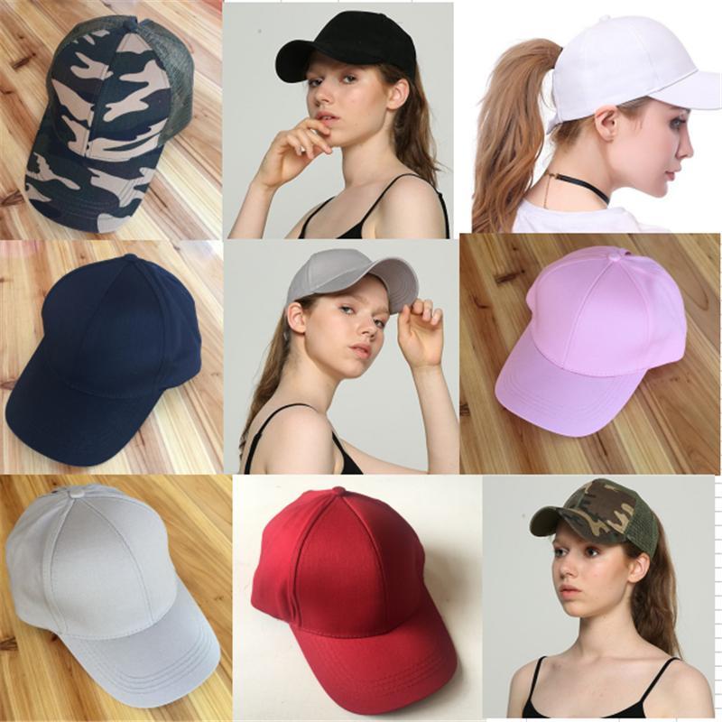 Women Girls CC Visor Cap Ponytail Baseball Hats Messy Bun Back Hole ... 38aaf59d260