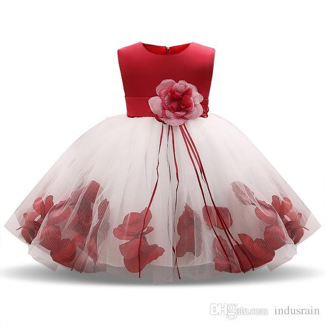 Compre 1 Año Cumpleaños Niña Vestido De Navidad Bautizo Infantil Bautizo  Infantil Recién Nacido Niño Bebes Ropa 6 9 12 18 24 Meses A  17.09 Del  Indusrain ... 497319f10d32