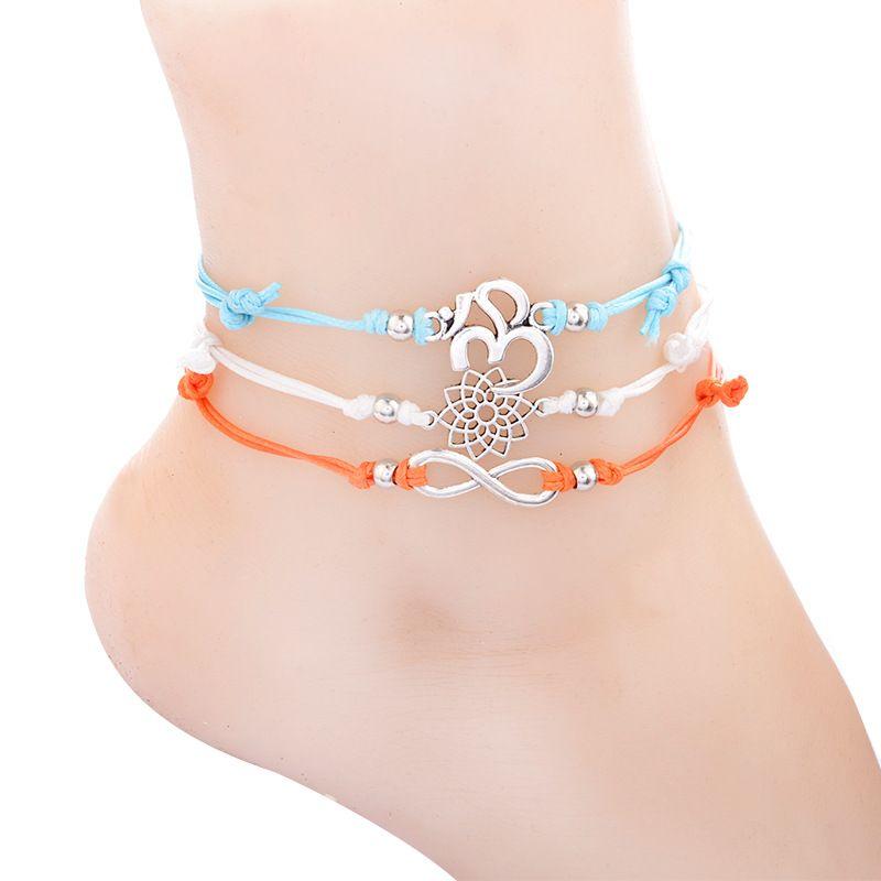 Infinite Pendant OM Yoga Anklet Foot Chain For Woman Summer Bracelet ... 6008a4140c61