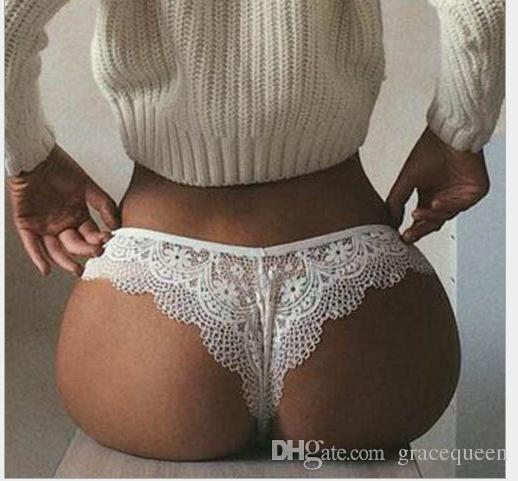 79f446c3634 2019 GraceQueen Hollowed Out Lace Underwear Black Plus Size Sexy Lace Pants  Women Brief Panties Cute Girls Women Both From Gracequeen