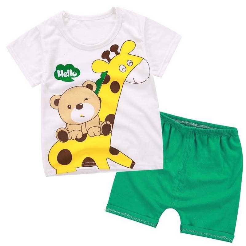 d962a7600684 2019 BibiCola Summer Baby Boys Clothing Sets Kids Cartoon Tops Shirt ...