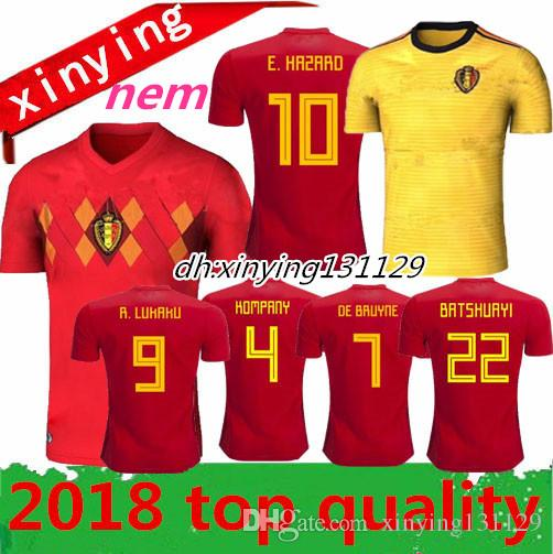 2019 Size S XXL Belgium Jerseys World Cup 2018 R.LUKAKU FELLAINI E.HAZARD  KOMPANY DE BRUYNE Football Shirt 18 19 Home Away Soccer Jersey From  Xinying131129 7733516f8