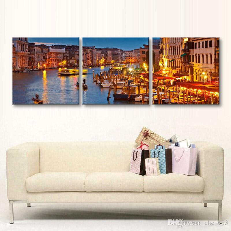 high-definition print night view canvas prints painting poster and wall art living room picture CSYJ3-001