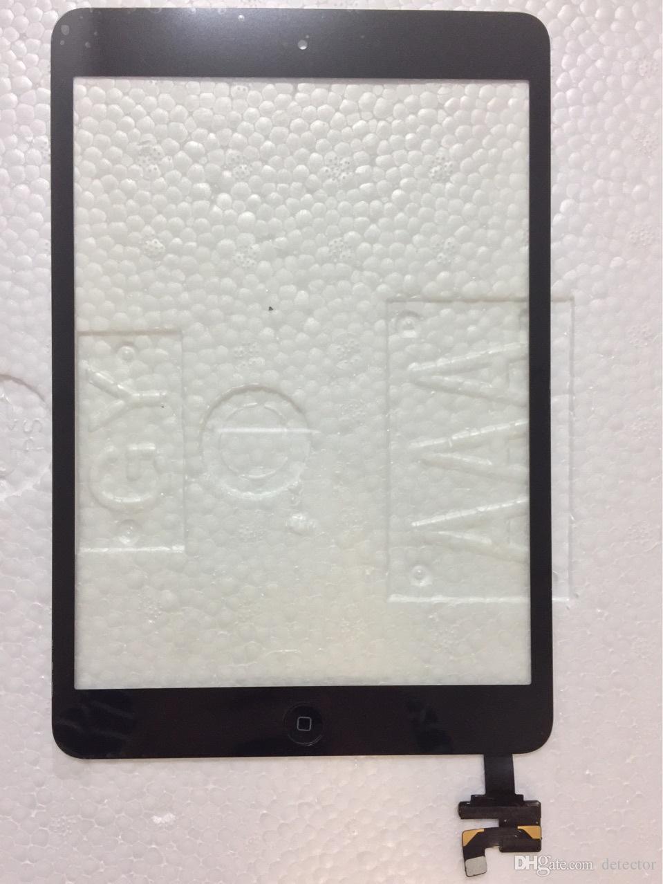 100% concluído para ipad mini 1 mini 2 touch screen digitador com cabo de casa de botão flex