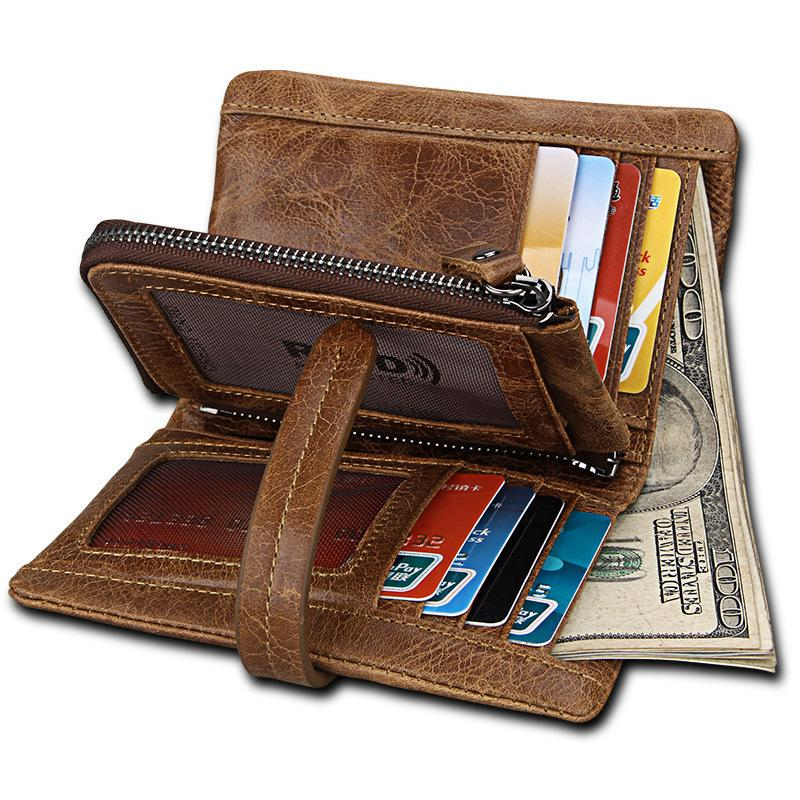 ab4772f68e7c New Genuine Leather Wallet Men Small Walet Male Clutch Man Wallet Hasp  Zipper Money Bag Portomonee Coin Purse Card Holder Visconti Wallet Luxury  Leather ...