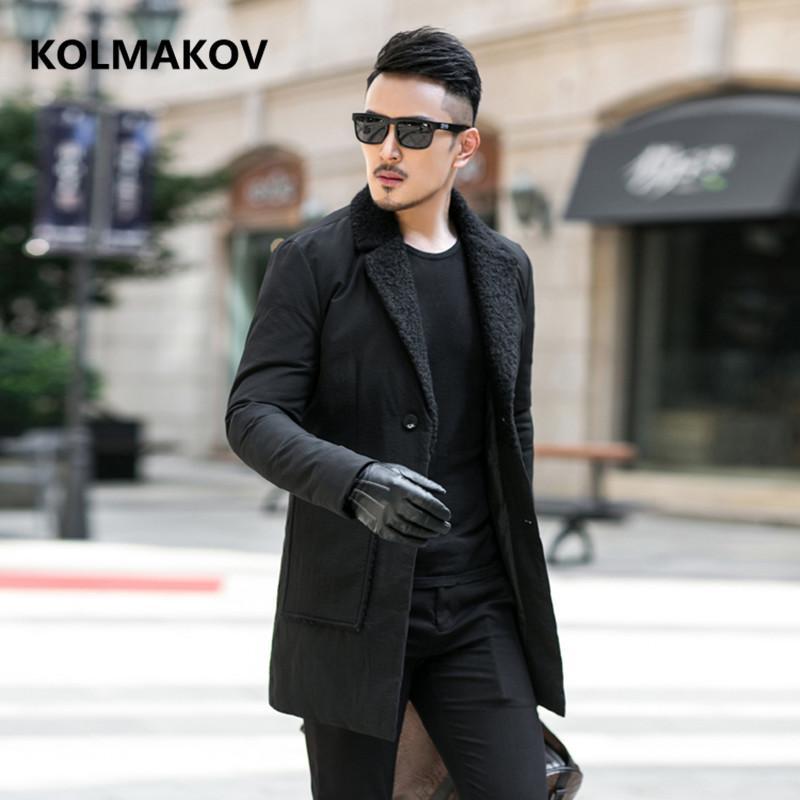 fb2dd399 2018 Men Down Coat Winter fashion Down Jacket high quality Parka men s  casual white duck Jackets mens size M-4XL
